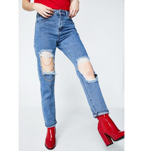 Linked Up Distressed Jeans