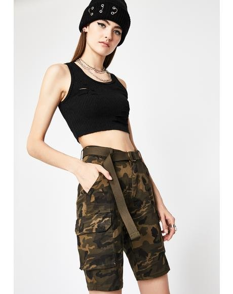 U Know The Drill Camo Shorts