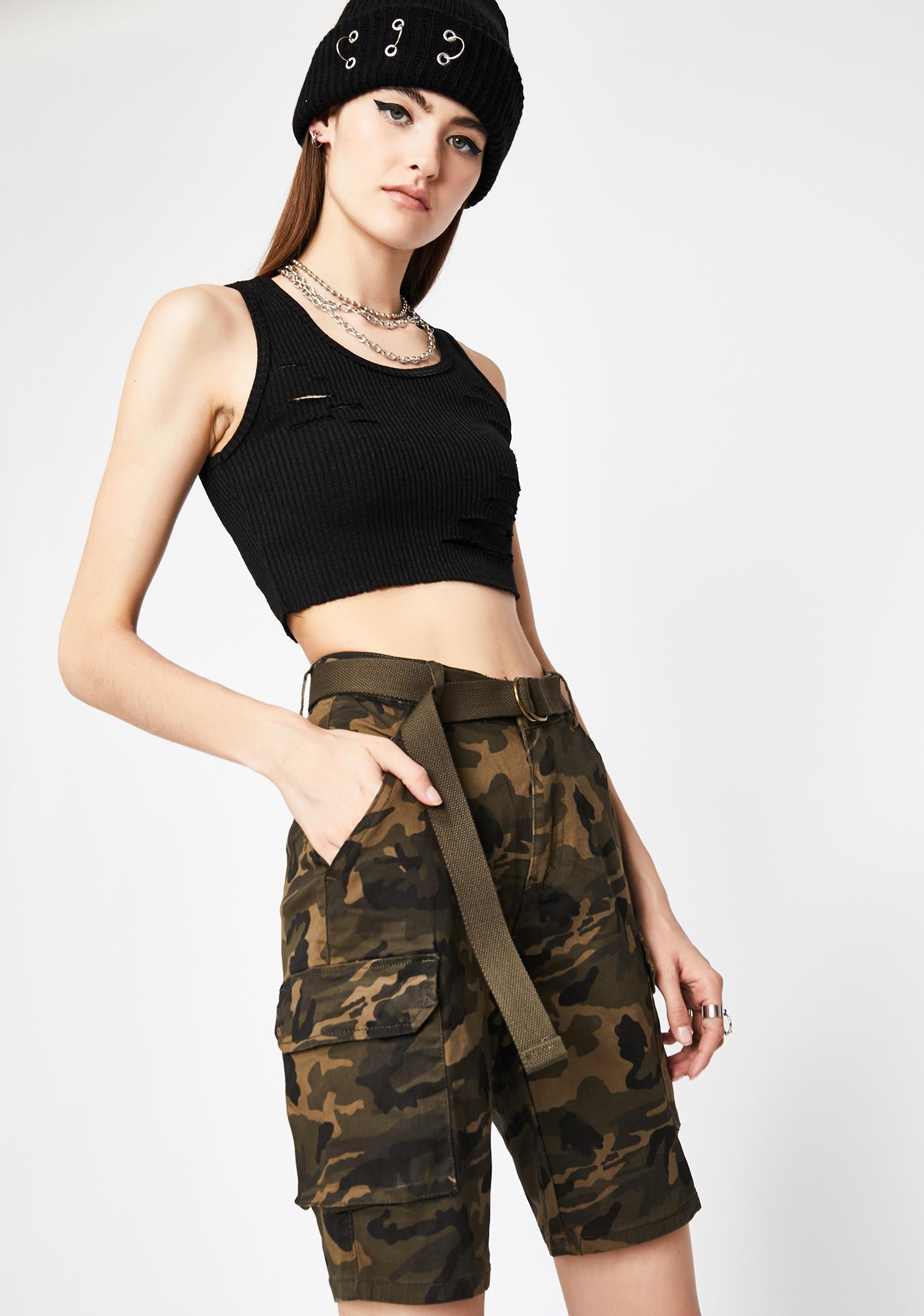 U Know The Drill Camo Shorts