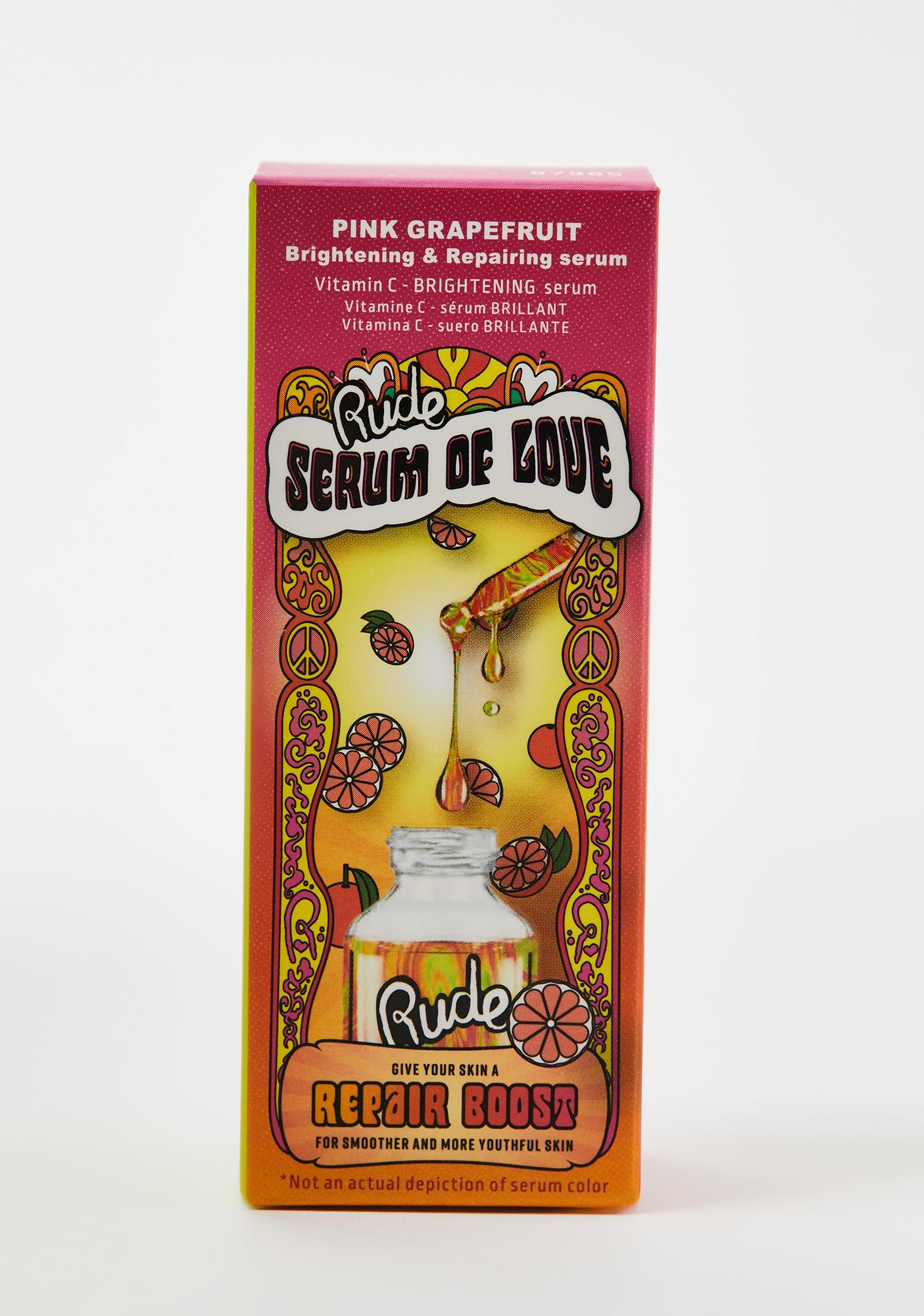 Rude Cosmetics Pink Grapefruit Repair Boost Serum Of Love