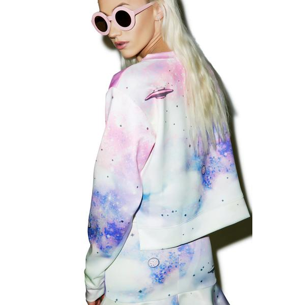 Wildfox Couture Space Cadet Pop Art Sweater