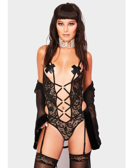 Nights Not Forgotten 2 Piece Strappy Lingerie Set