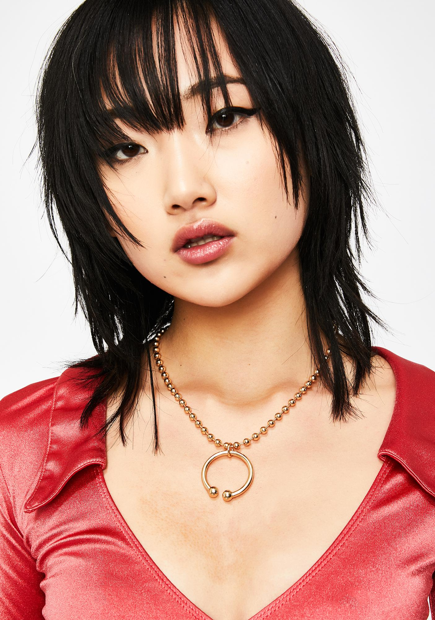 Miss Pop Ball Chain Necklace