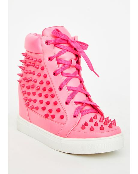 Miss Expelled Honey Wedge Sneakers
