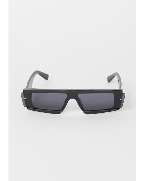 Undercover Star Rectangle Sunglasses