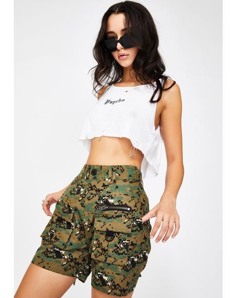 Camo Matira Cargo Shorts