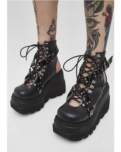 Cutout Heel Shaker Boots
