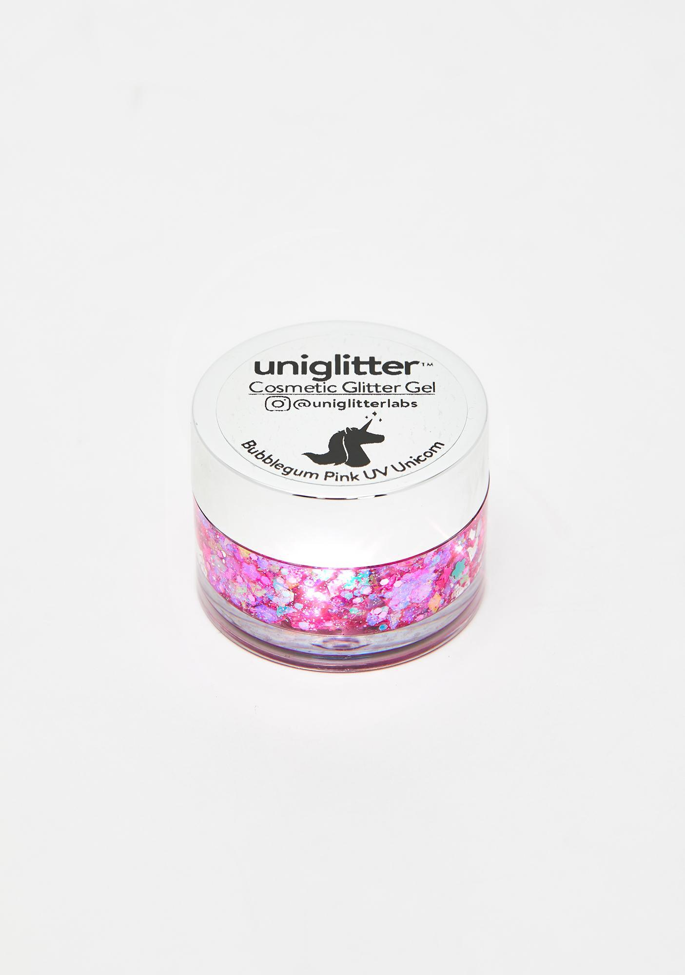 Uniglitter Bubblegum Pink UV Unicorn Glitter Gel
