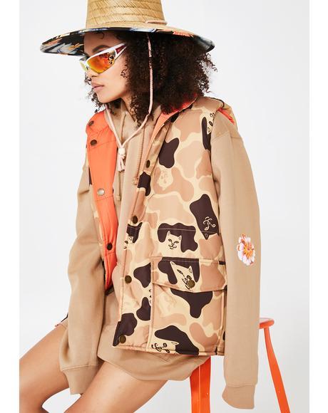 Nerm Desert Camo Reversible Vest