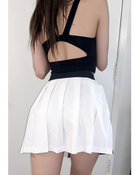 Yin & Yang Chain Pleated Skirt