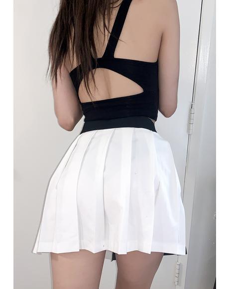 Yin & Yang Chain Pleated Skirt