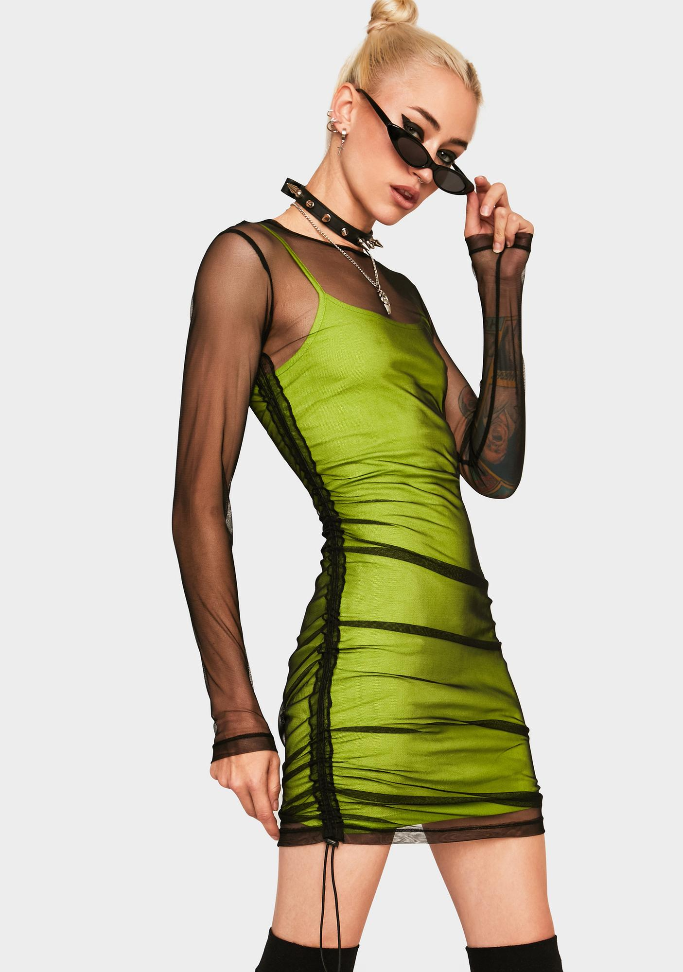 The Ragged Priest Ruche Front Mini Dress