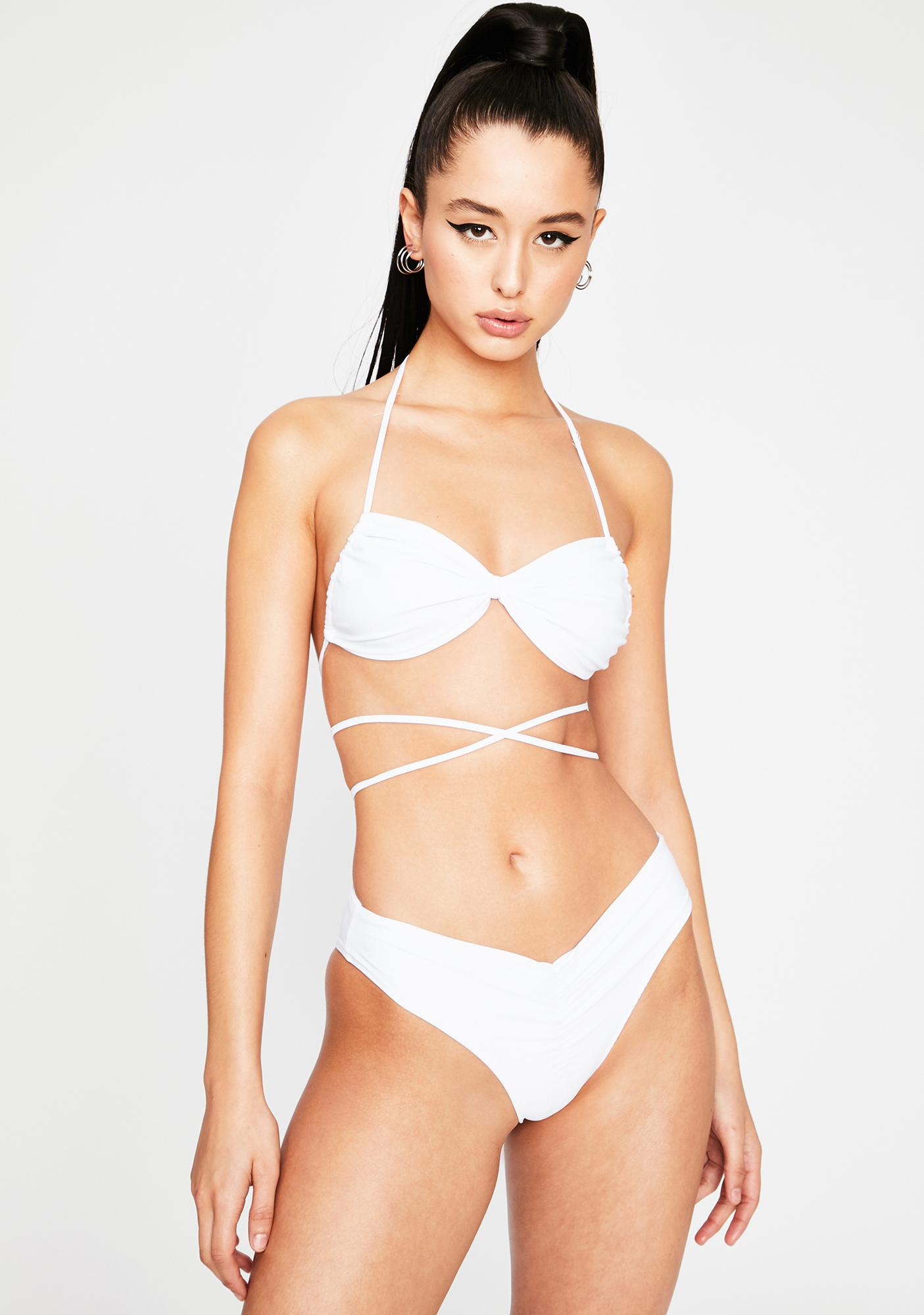 Blanc Total Bombshell Bikini Set