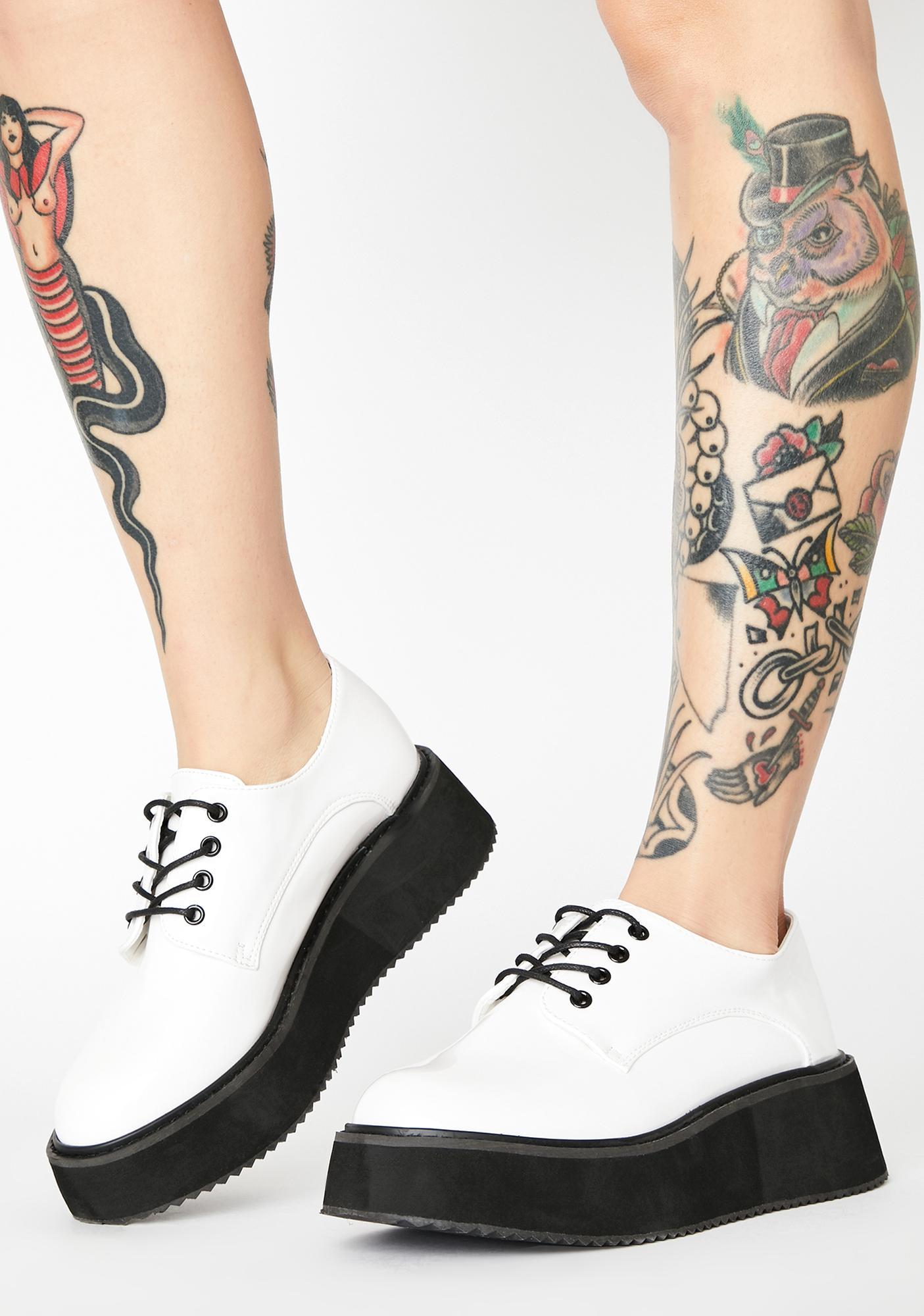 Koi Footwear White Platform Oxford Sneakers