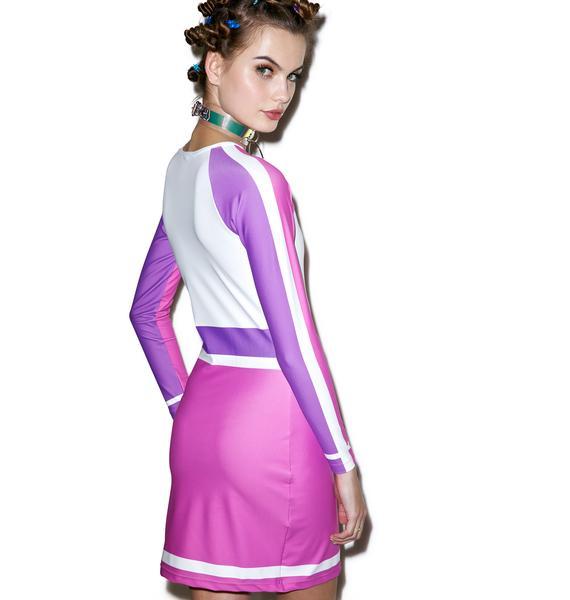 Bubblegum Court Raglan Dress