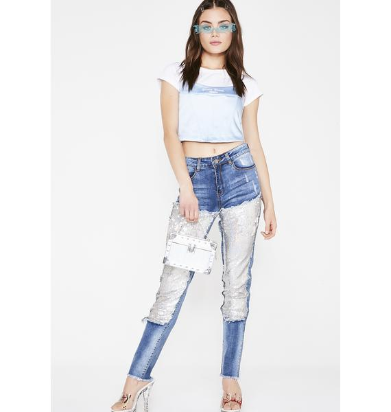 Bling About It Sequin Jeans