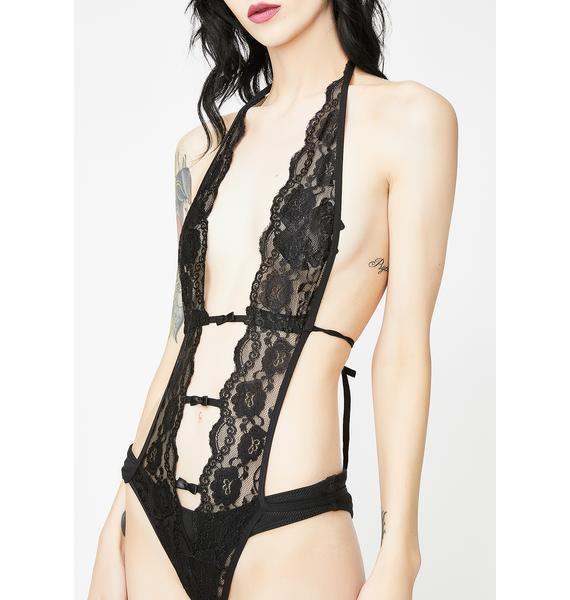 GM Text Lace Bodysuit