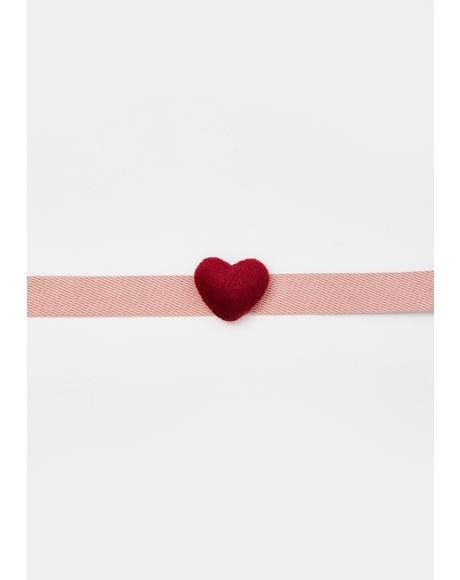 Loved Up Heart Choker