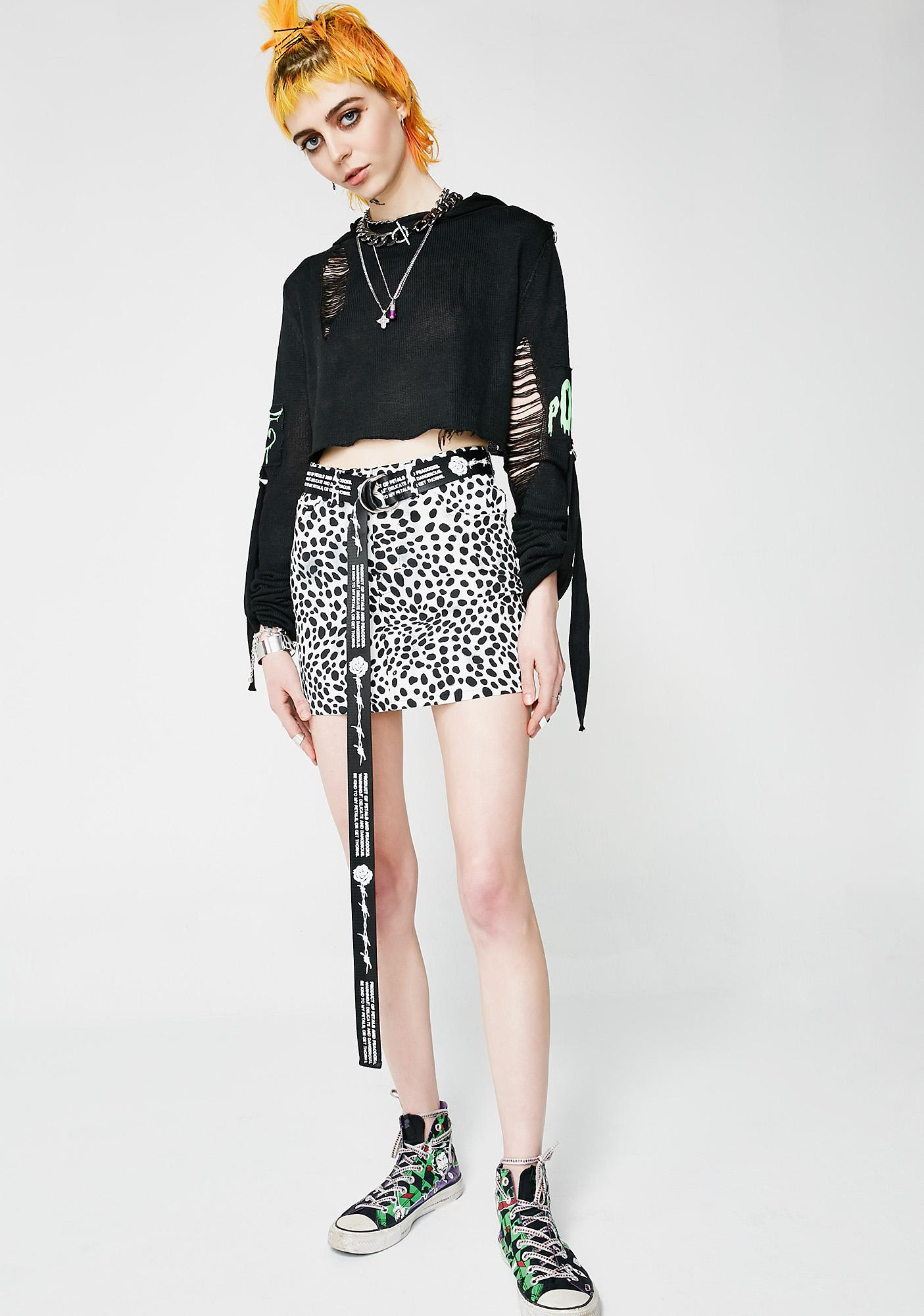 Motel Dalmation Mini Broomy Skirt