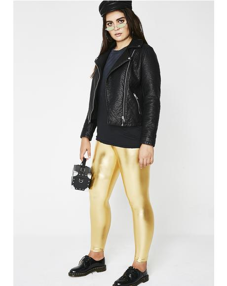 Goldie Metallic Leggings