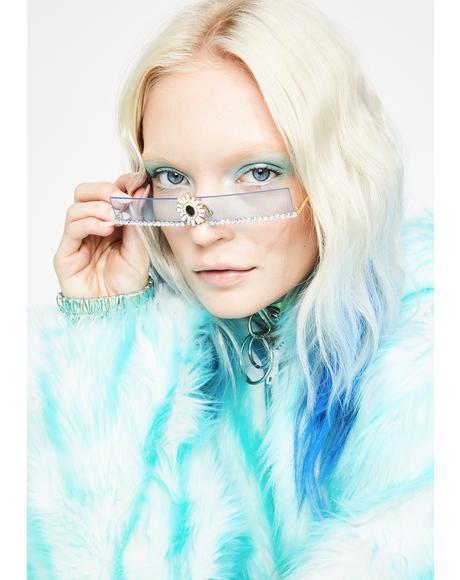 Sapphire Shining Aura Rhinestone Sunglasses