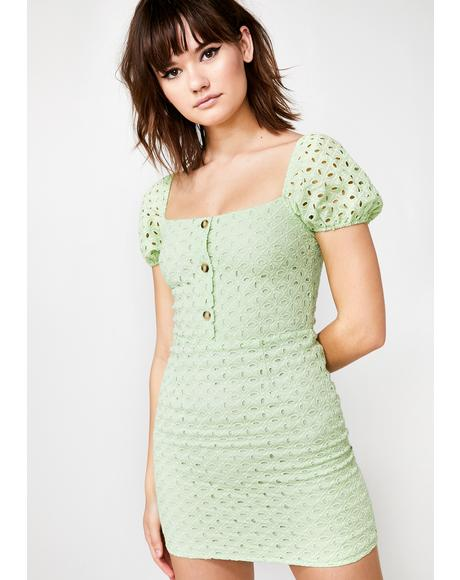 Garden Nymph Eyelet Dress