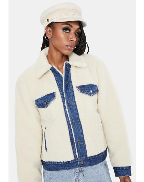 Counting Sheep Ex-Bf Pieced Trucker Jacket