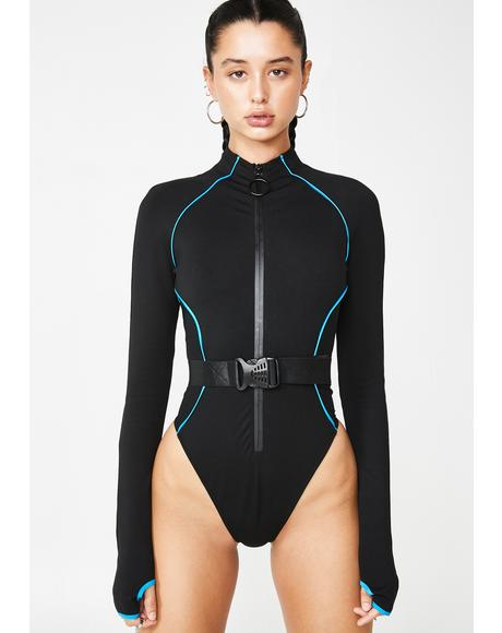 Executive Suite Zip Up Bodysuit