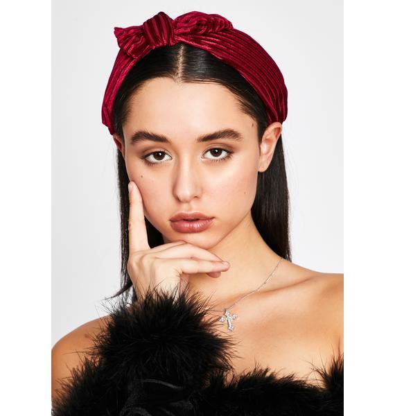 Never Tied Down Velvet Headband