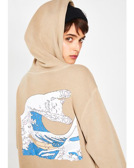 Sand Great Wave Pullover Sweater