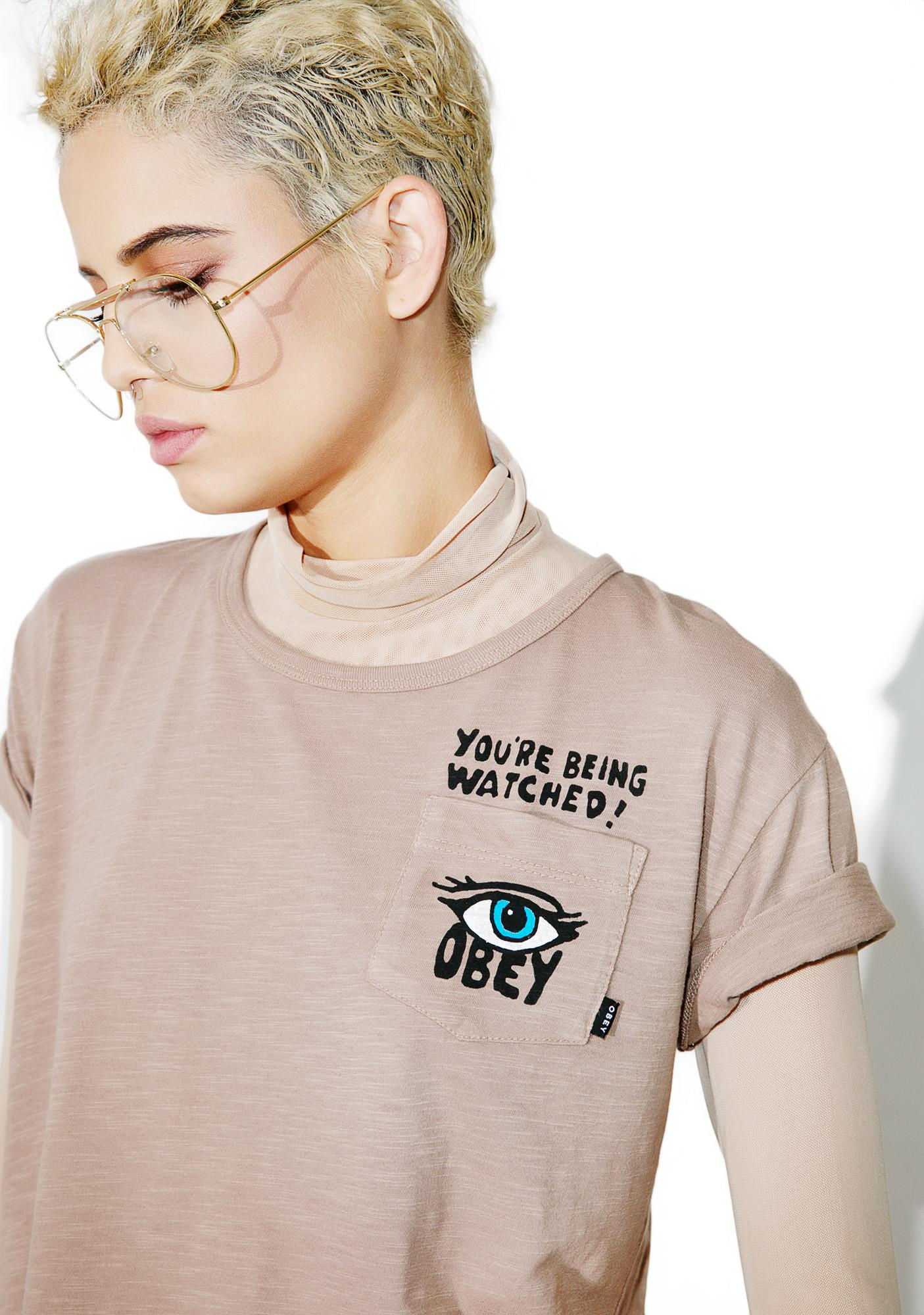 Obey Being Watched Tee