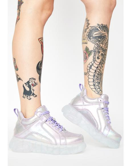 Purple Corin Platform Sneakers