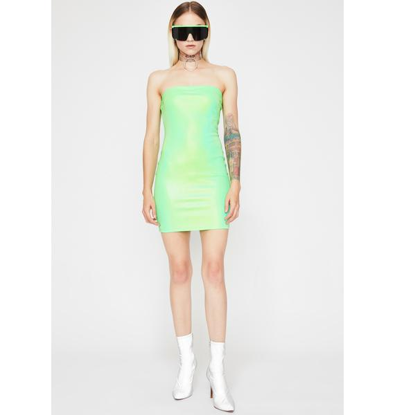 Acid Power Surge Reflective Dress