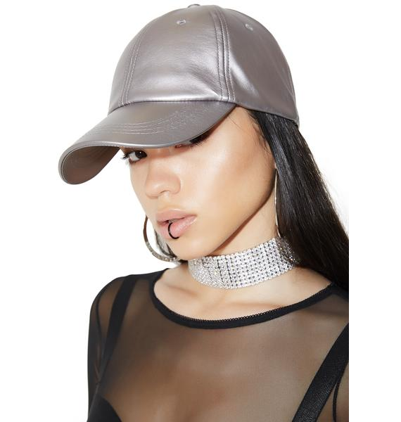 Take A Pic Metallic Baseball Hat