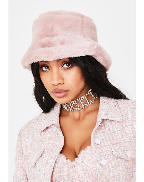 Sweet Icy Heaven Faux Fur Bucket Hat