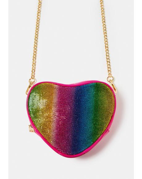 Sparkling Hearts Crossbody Bag