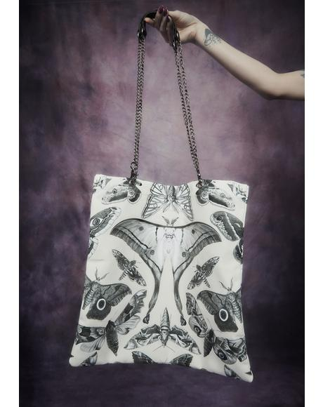 Spirit World Moth Print Tote Bag