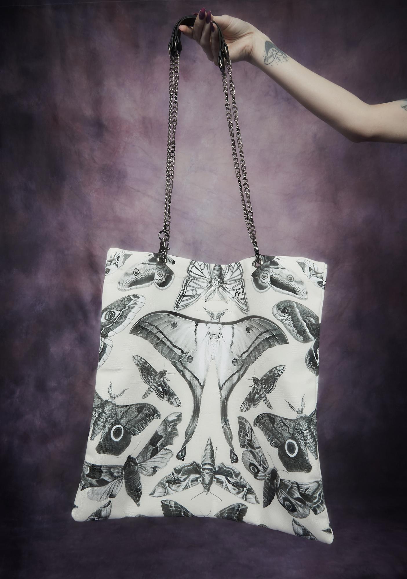 Widow Spirit World Moth Print Tote Bag