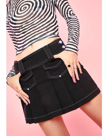 Don't Be Cryptic Pleated Skirt