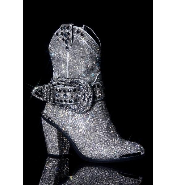Club Exx Icy Sheriff Shine Cowboy Boots