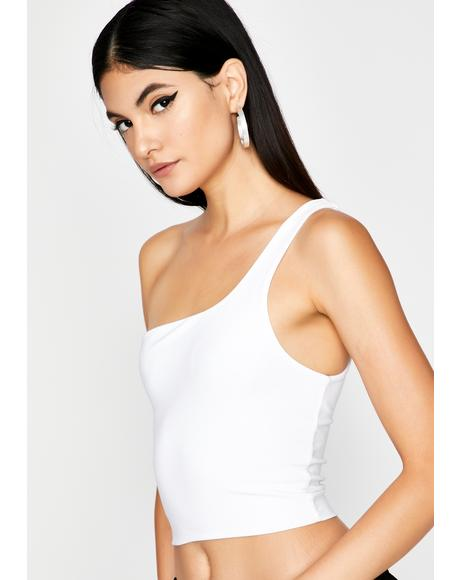 Blanc Ball 'Til I Fall Crop Top