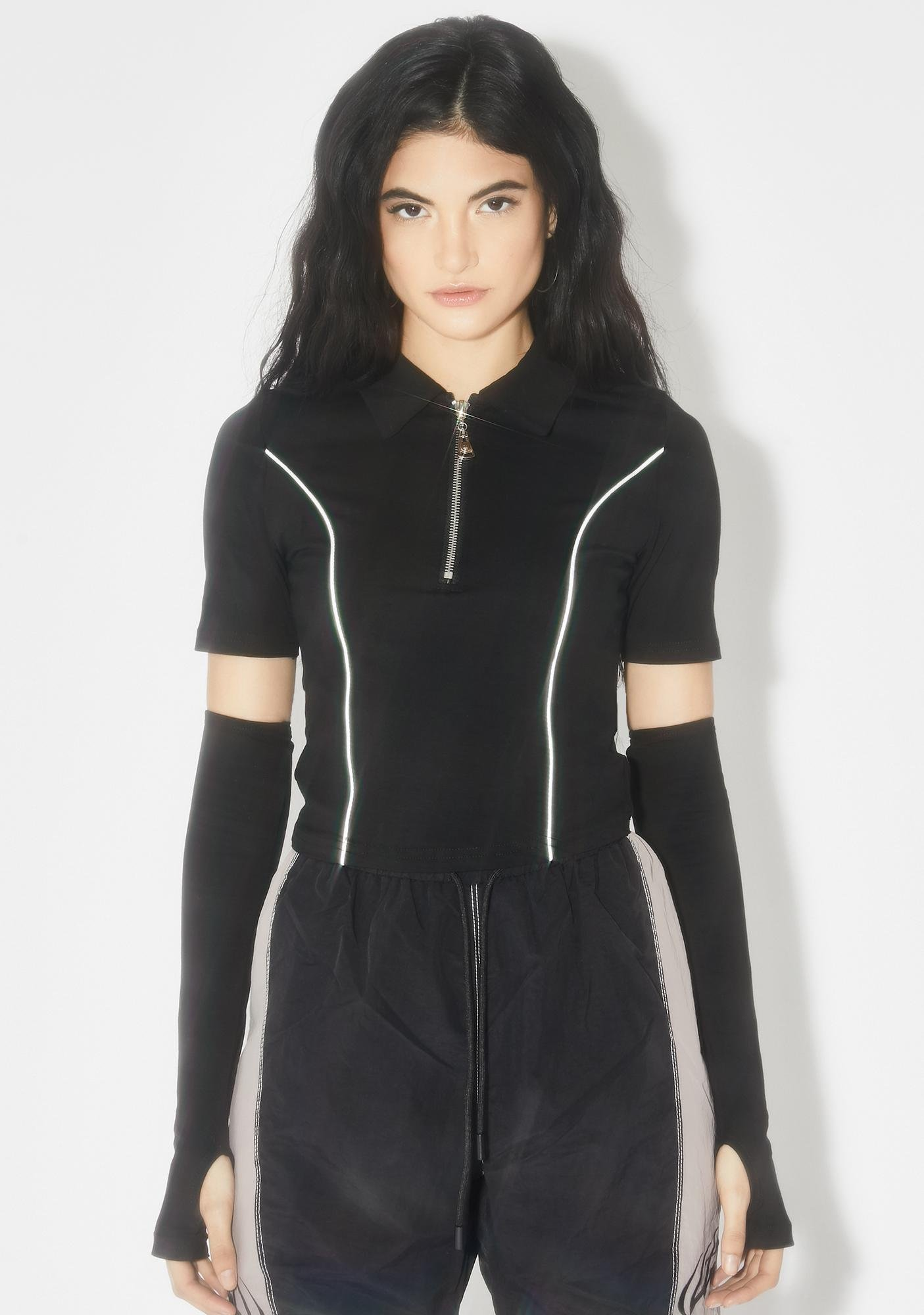 THE KRIPT Logan Sleeves Reflective Top