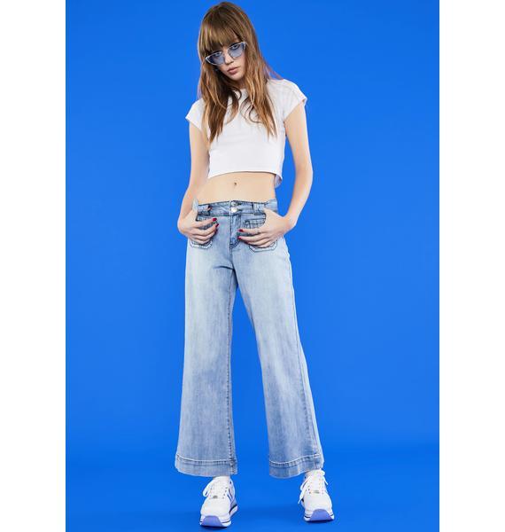 dELiA*s by Dolls Kill Playing Hooky Wide Leg Jeans