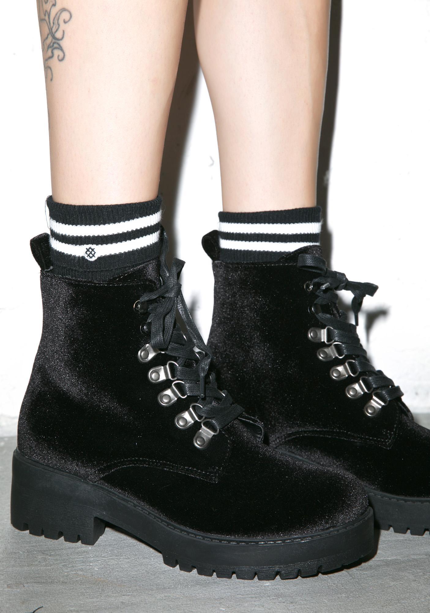 T.U.K. Velvet Harper Boots