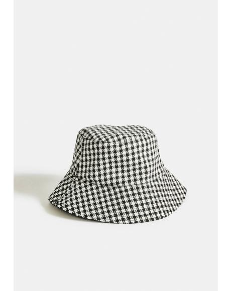 Pass For Perfect Houndstooth Bucket Hat