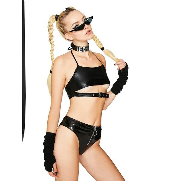 Club Exx Base Chaser Halter Top