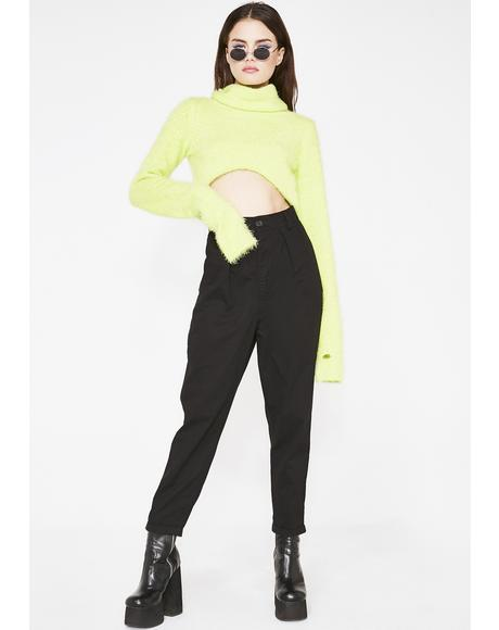 LO Black Peggy Trousers
