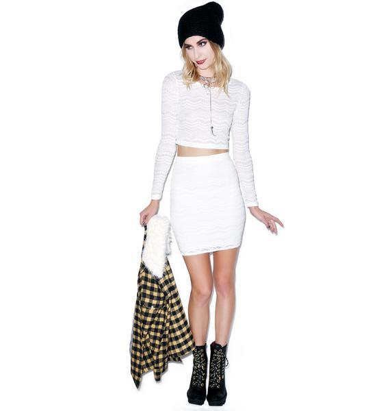 Motel Kimmy Eyelet Lace Skirt