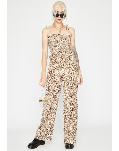 Kitten Club Leopard Jumpsuit
