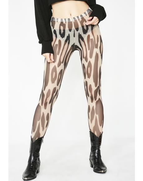 Huntress Henny Leopard Tights